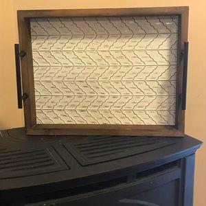 Wood framed tray